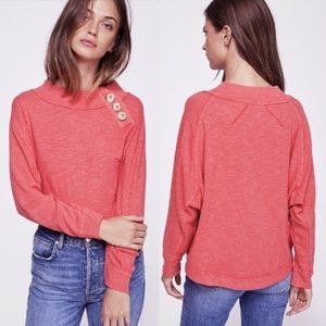 Free People Don't Forget Me Button Top